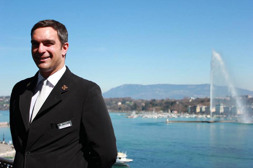 Jonathan Schmitt, Concierge at Geneva, Switzerland's Hôtel de la Paix and Les Clefs d'Or member
