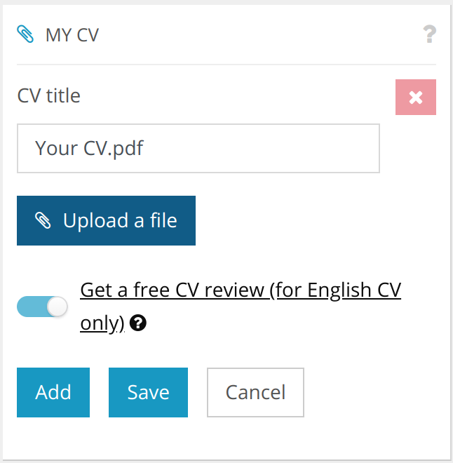 Get a free CV review