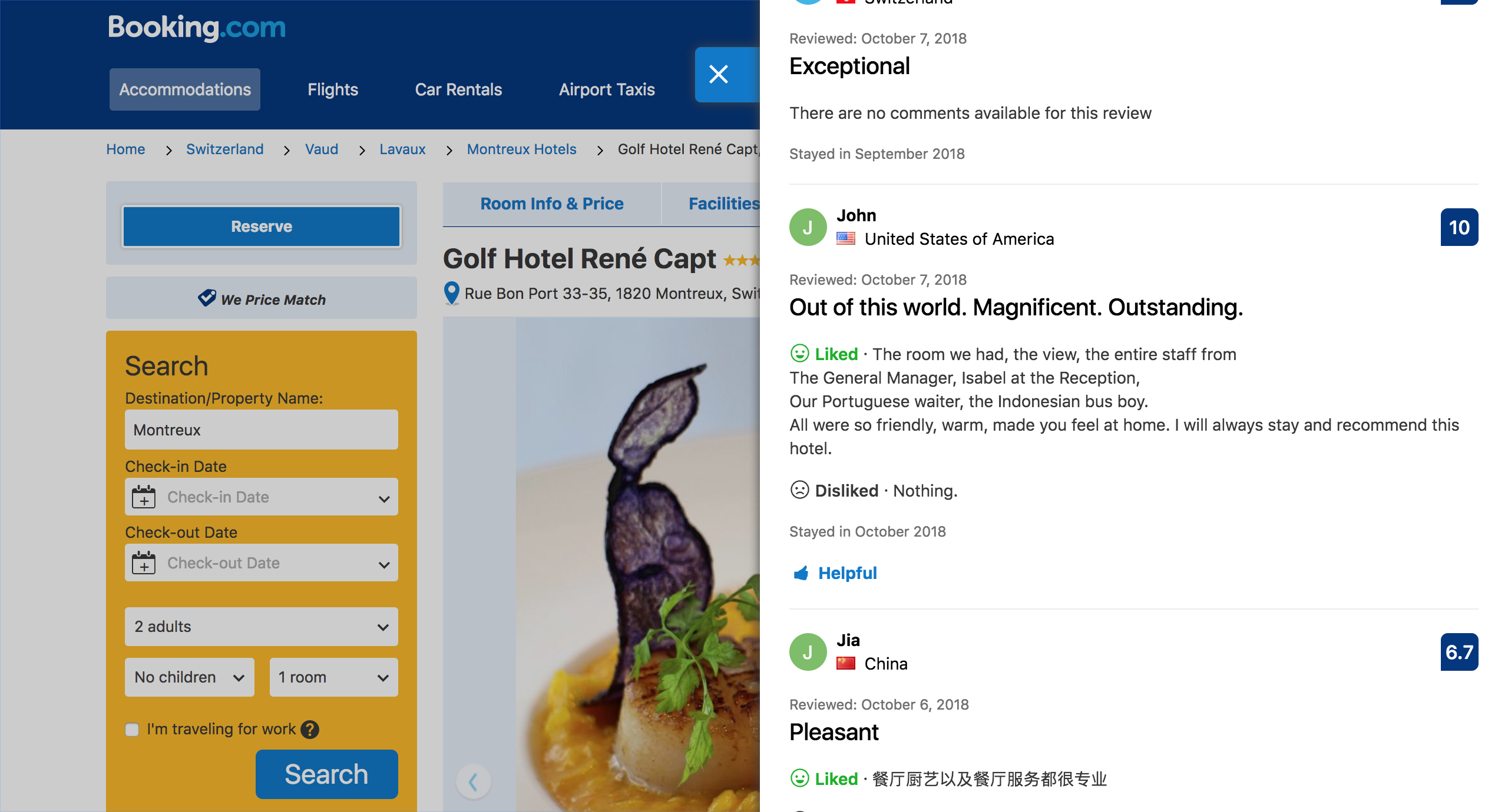 Guest Review at Golf-Hôtel René Capt, Montreux on 7 October 2018.jpg