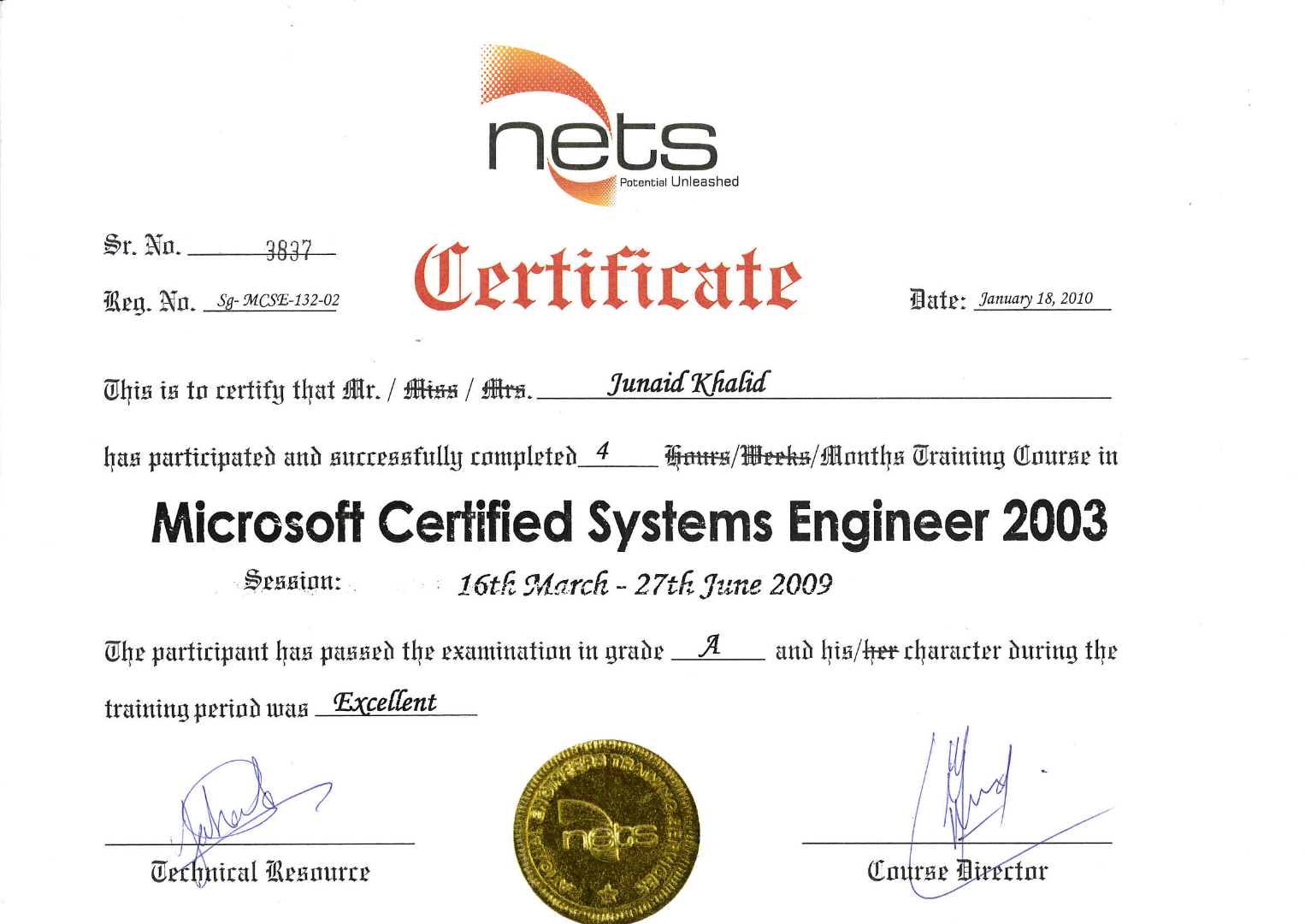 Certificate of MCSE-2010_1.PNG